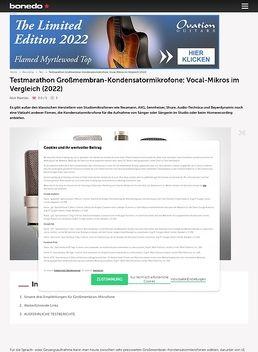 Testmarathon Großmembran-Kondensatormikrofone: Vocal-Mikros im Vergleich