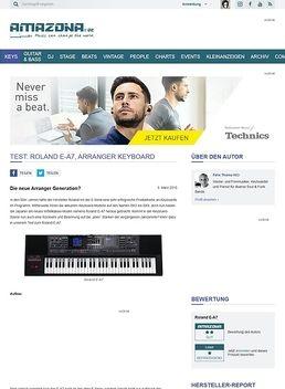 Test: Roland E-A7, Arranger Keyboard