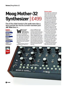 Moog Mother-32 Synthesizer