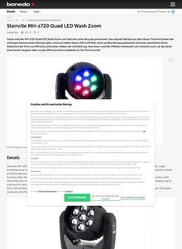 MH-z720 Quad LED Wash Zoom