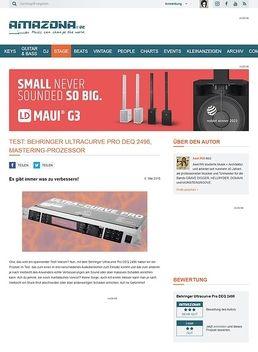 Test: Behringer Ultracurve Pro DEQ 2496, Mastering-Prozessor