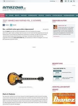 Test: Ibanez AMV100FMD-YSL, E-Gitarre