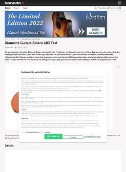 Diamond Guitars Bolero AB3