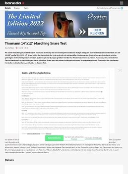 SD1412BL HT Marching Snare