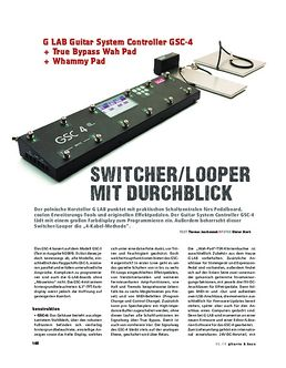 G LAB Guitar System Controller GSC-4 + True Bypass Wah Pad + Whammy Pad