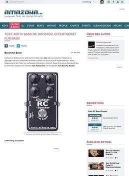 Test: Xotic Bass RC Booster, Effektgerät für Bass