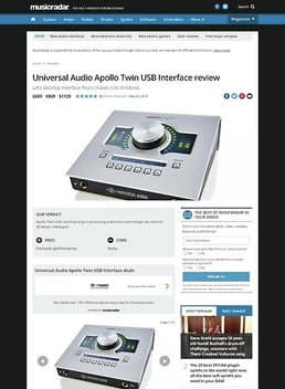 Universal Audio Apollo Twin USB Interface