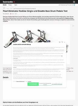 Pearl Eliminator Redline Single und Double Bass Drum Pedale