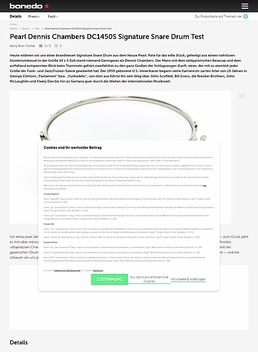 Pearl Dennis Chambers DC1450S Signature Snare Drum