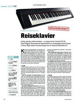 Yamaha Piaggero NP-32 - Reiseklavier