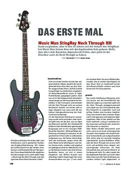 Music Man StingRay Neck Through HH, E-Bass