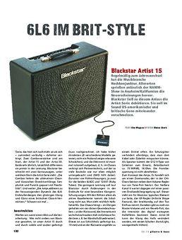 Blackstar Artist 15, Tube-Combo