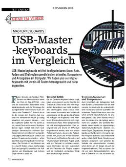 USB-Master-Keyboards im Vergleich