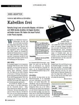 UD-BT01 Wireless Midi Adapter