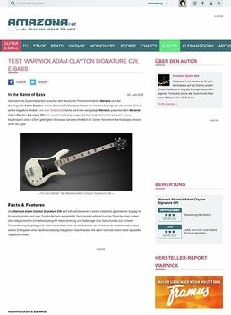 Test: Warwick Adam Clayton Signature CW, E-Bass