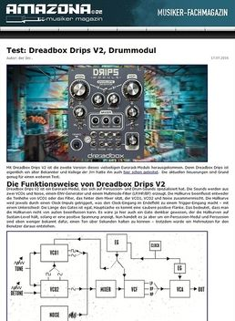 Test: Dreadbox Drips, Drum-Modul