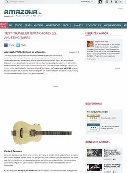 Test: Traveler Guitar AG105 EQ, Akustikgitarre