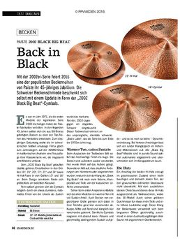 "19"" 2002 Black Big Beat Cymbal"