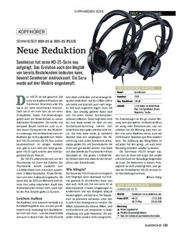 Sennheiser HD 25, HD 25 Light und HD 25 Plus