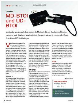 Yamaha MD-BTOI und UD-BTOI