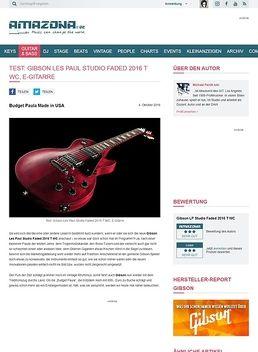 Test: Gibson Les Paul Studio Faded 2016 T WC, E-Gitarre