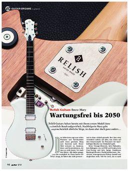 Relish Guitars Snow Mary