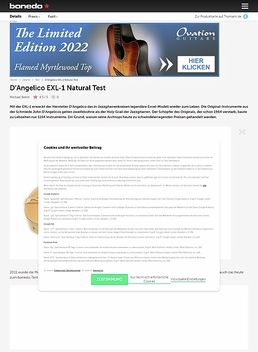 D'Angelico EXL-1 Natural