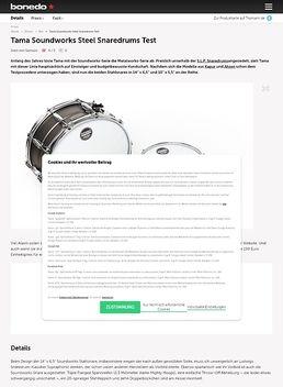 Tama Soundworks Steel Snaredrums