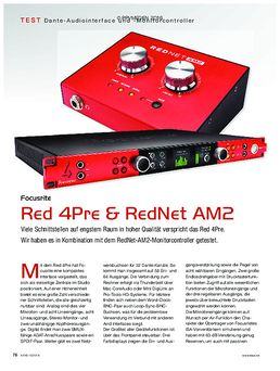 Focusrite ed 4Pre & RedNet AM2