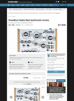 Dreadbox Hades Bass Synthesizer