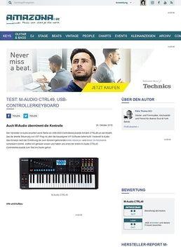 Test: M-Audio CTRL49, USB-Controllerkeyboard