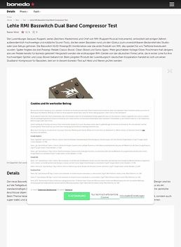 Lehle RMI Basswitch Dual Band Compressor
