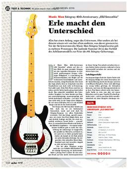 "Music Man Stingray 40th-Anniversary ""Old Smoothie"""