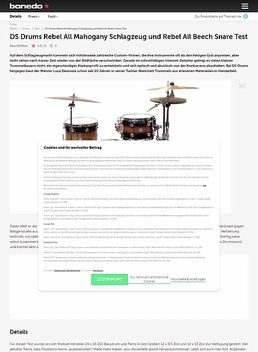 DS Drums Rebel All Mahogany Schlagzeug und Rebel All Birch Snare