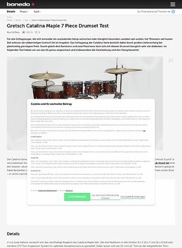 Gretsch Catalina Maple 7 Piece Drumset