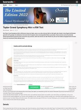Taylor Grand Symphony Mini-e RW