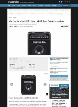 Hartke Kickback KB12 and KB15 Bass Combos