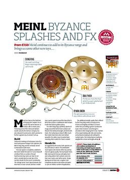 Meinl Byzance Splashes and FX