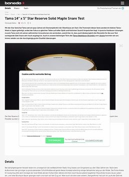 "Tama 14"" x 5"" Star Reserve Solid Maple Snare"