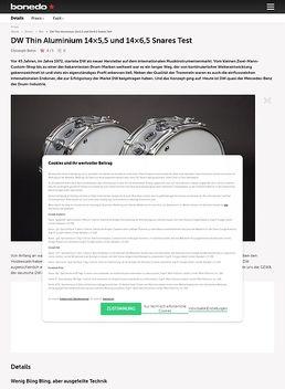 "14""x6,5"" Thin Aluminium Snare"