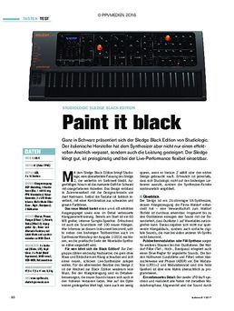 Studiologic Sledge Black Edition: Paint it black