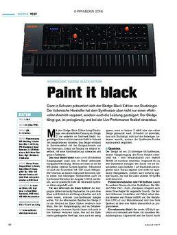 Studiologic Sledge Black Edition: Paint it black