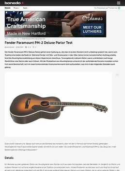 Fender Paramount PM-2 Deluxe Parlor