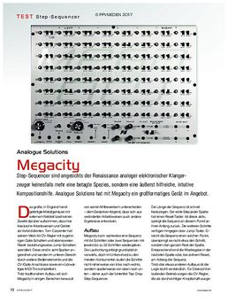 Analouge Solutions Megacity