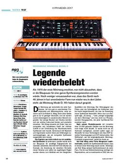 Moogmusic Minimoog Model D: Legende wiederbelebt