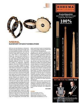 Meinl Percussion Super Dry Studio Tambourines