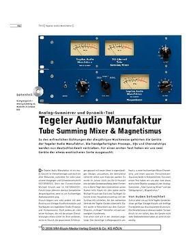Tegeler Audio Manufaktur Tube Summing Mixer & Magnetismus
