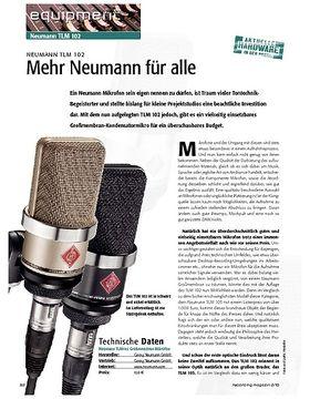 Neumann TLM 102 – Mehr Neumann für alle