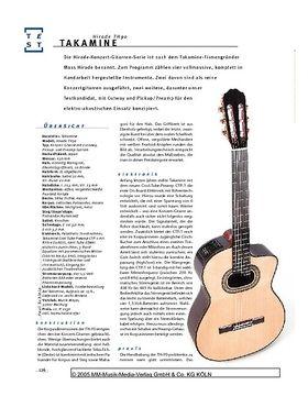 Takamine Hirade TH90, Konzertgitarre mit Pickup-System