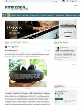 Test: Shure SRH 750 DJ
